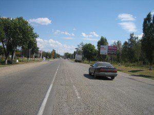 Советов, въезд со стороны Новороссийска