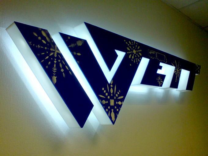 Объемные буквы с подсветкой Краснодар