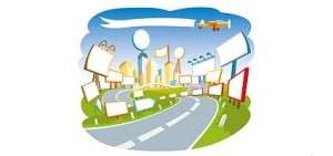 Cartoon_city_scenes_Vector_Image