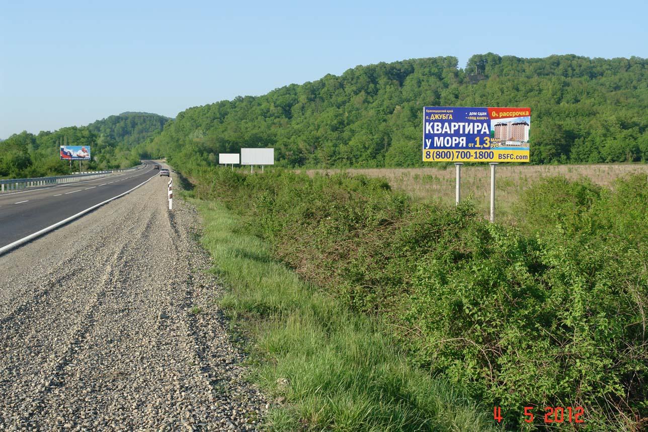 Трасса Краснодар-Джубга М4, 1439 км + 014 м, сторона А