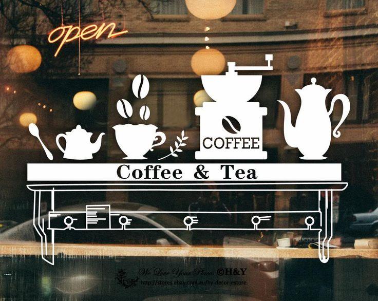 витрина кофейни