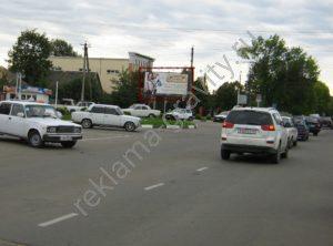 рекламный щит в Белореченске призма Мира