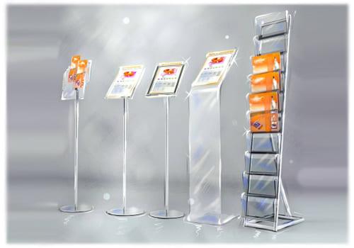 рекламные стойки