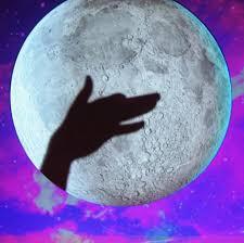проектор и Луна