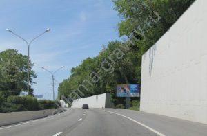 билборд Трасса Адлер-Сочи, въезд в город (хостинский тоннель)