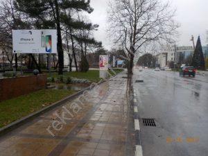 рекламный щит в центре Новороссийска ул. Советов
